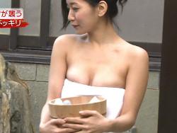 番組THE ミッションでグラドル階戸瑠季のお乳ニプレスチラリ