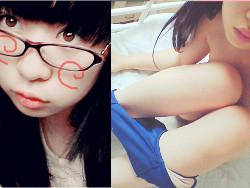 Twitterで現役10代小娘18才が顔出しでスクミズ着て小さい乳お乳とマン毛自撮り