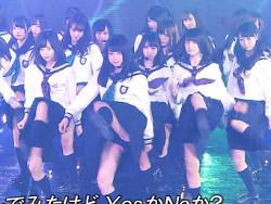 FNSで欅坂46メンバーの10代小娘スカートがめくれブルマから純白ハミパンパンツ丸見え