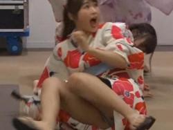 ドッキリのTV番組でNMB48渋谷凪咲が浴衣でパンツマル見えになる放送事故