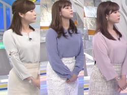 女子アナ角谷暁子、生放送中に股間押さえてオナニーでイッてる動きをする