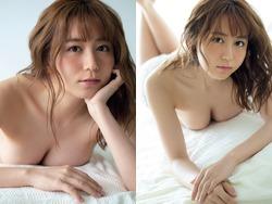 SKE48大場美奈が巨乳ブラジャー外して上半身おっぱいセミヌードを晒す